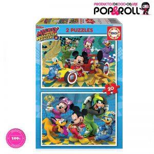 puzzles-superpilotos-mickey-and-the-roadster-racers-2-puzzles-de-20-piezas-ocio-poproll-imagen-principal